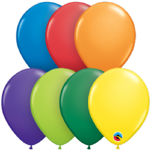 5 inch Carnival Assortment Balloons - Qualatex 100pcs